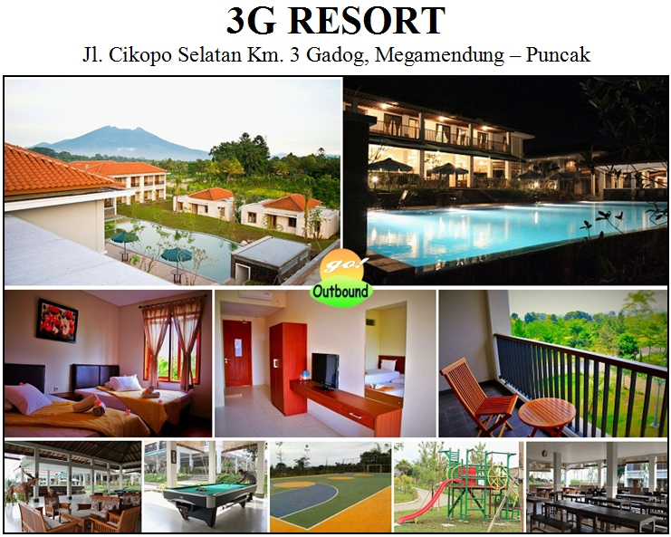 3G RESORT - Gadog, Megamendung - Puncak