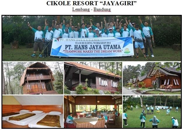 Cikole JayaGiri Resort, Lokasi Outbound Bandung