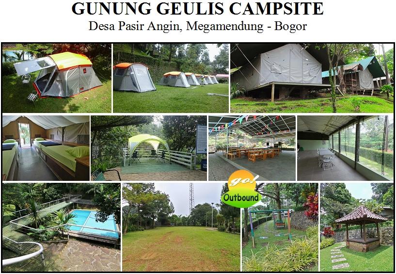 OUTBOUND di GUNUNG GEULIS CAMPSITE, Megamendung - Puncak Bogor
