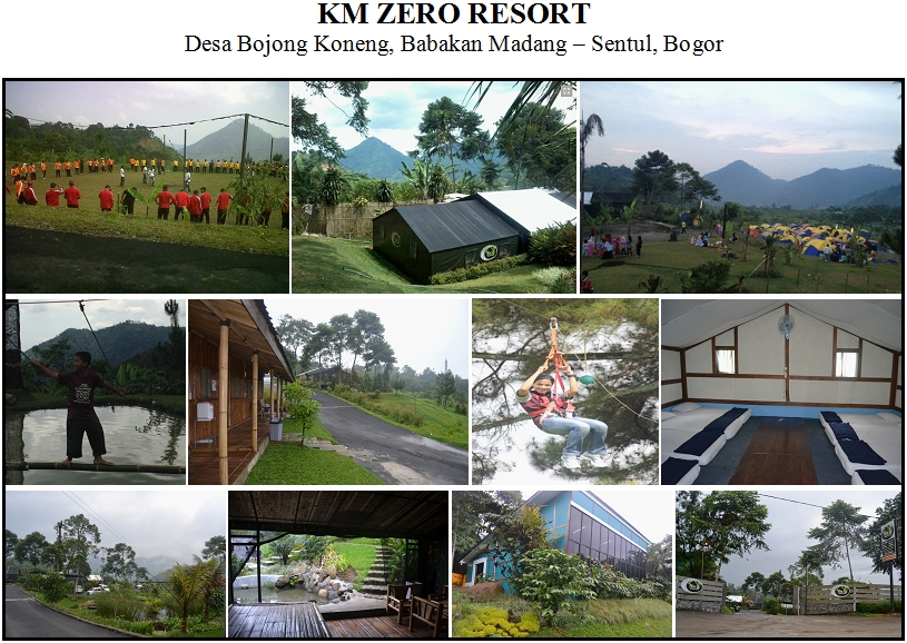 km zero resort, km zero resort sentul, outbound sentul