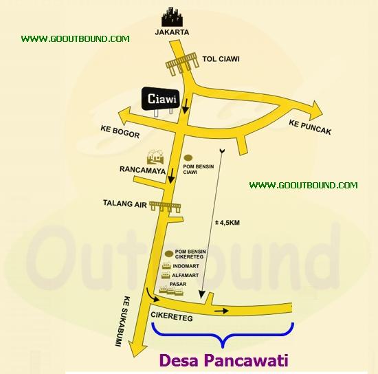 Lokasi Outbound di Desa Pancawati Bogor