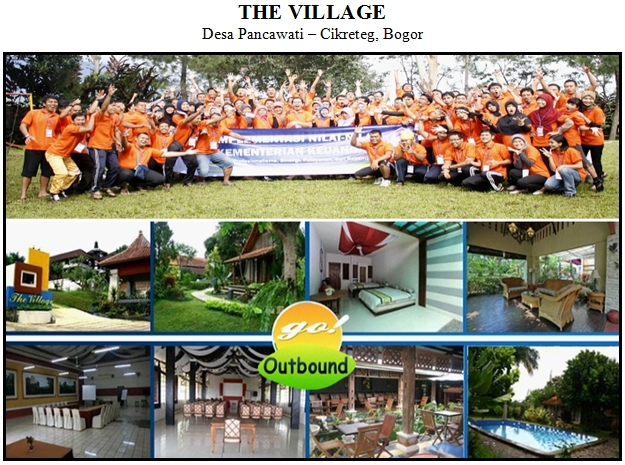 Outbound di Hotel The Village Desa Pancawati Bogor