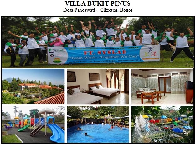 Outbound di Hotel Villa Bukit Pinus Desa Pancawati Bogor