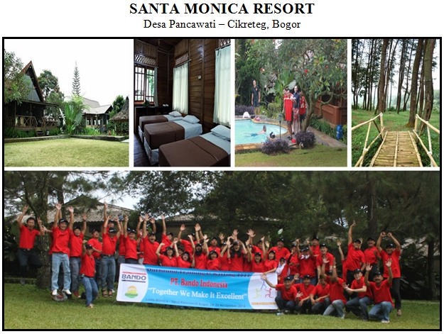 Outbound di Villa Santa Monica Resort Pancawati Bogor
