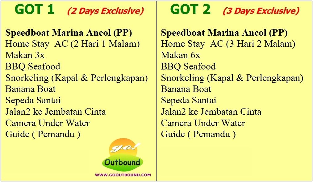 Paket Tour Wisata Pulau Tidung 2 Hari 1 Malam (Two Days One Nights)
