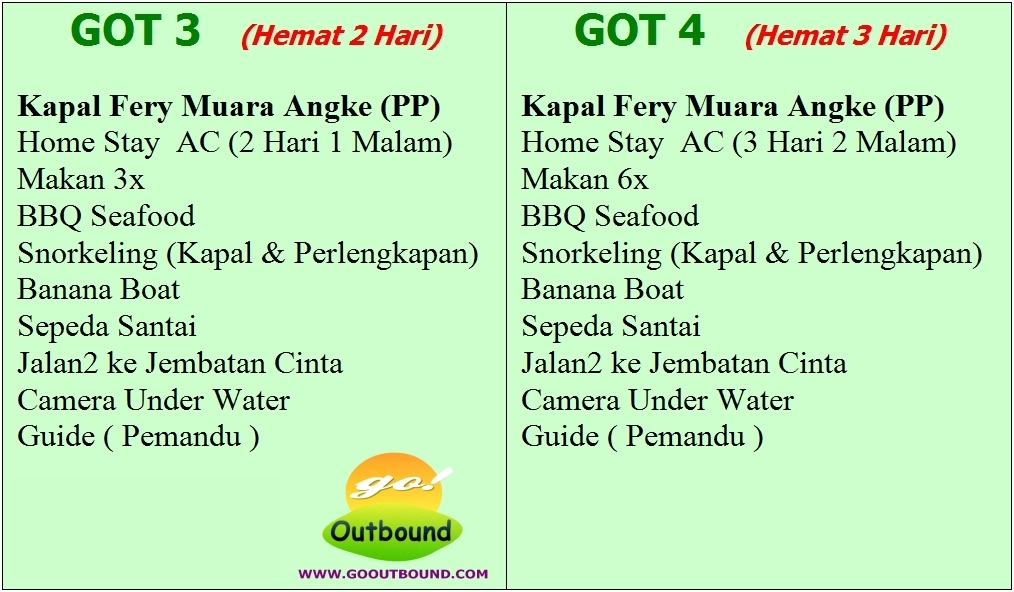 Paket Tour Wisata Pulau Tidung 3 Hari 2 Malam (Three Days Two Nights)