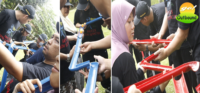 Contoh Permainan (Games) Outbound: PIPE LINE