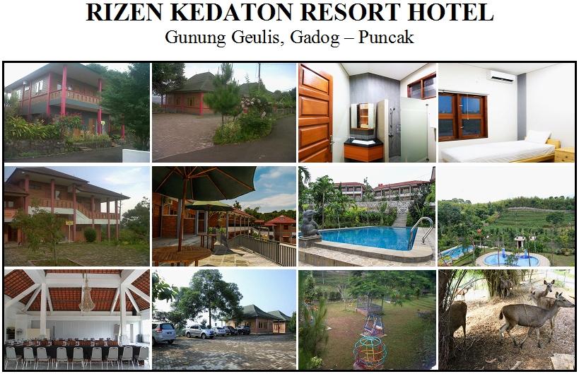 RIZEN KEDATON RESORT HOTEL, Gunung Geulis Gadog, Puncak - Bogor