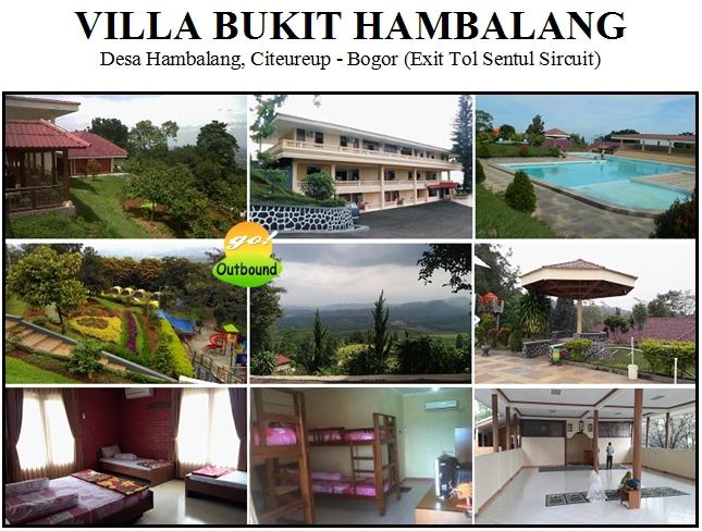 villa bukit hambalang, villa bukit hambalang sentul, outbound sentul, lokasi outbound di sentul